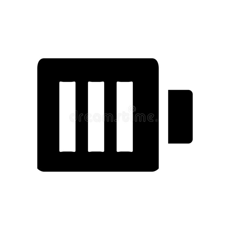 Battery icon. Power energy symbol. Ä°con, battery, energy, electricity, electronic, power, symbol, sign, charge, electrical, accumulator, empty, alkaline, full vector illustration