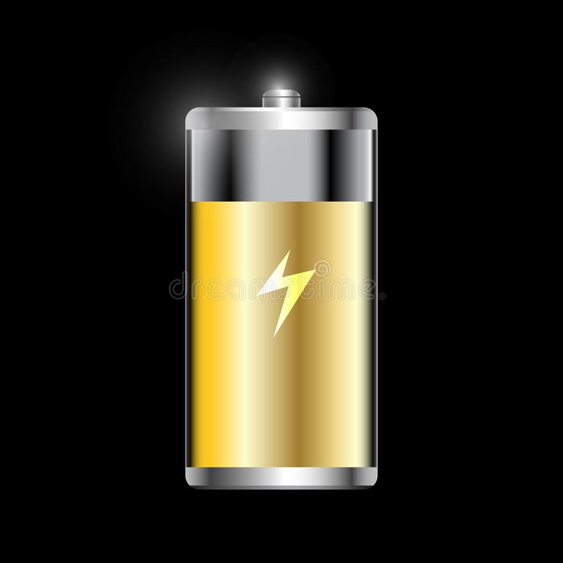Icon battery low and full. Is a general illustration royalty free illustration