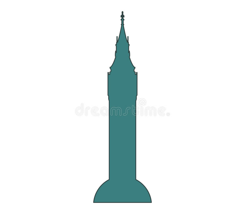Download Icon Big Ben illustrated stock illustration. Image of tower - 88191038
