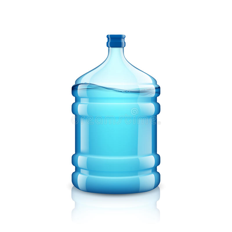 Icon big bottle with clean water. Plastic container for the cool royalty free illustration