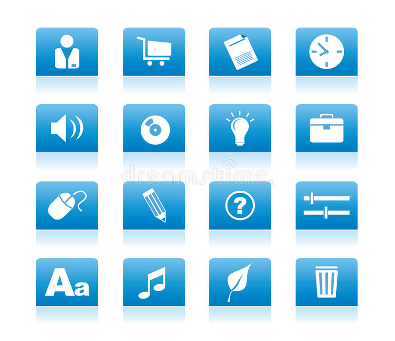 Download Icon_blue_02 stock vector. Image of mail, glass, computer - 9517601