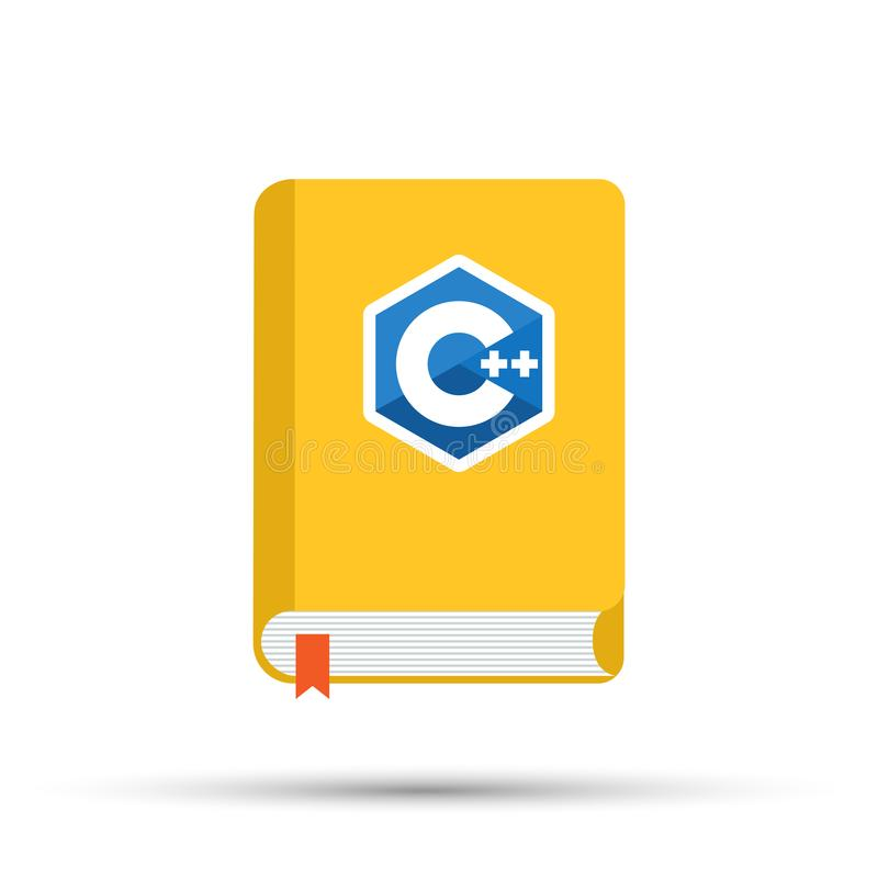 Icon of books about programming. A book on the C programming language. stock illustration