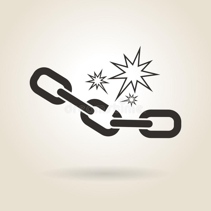 Free Icon Broken Chain Royalty Free Stock Photography - 55102827
