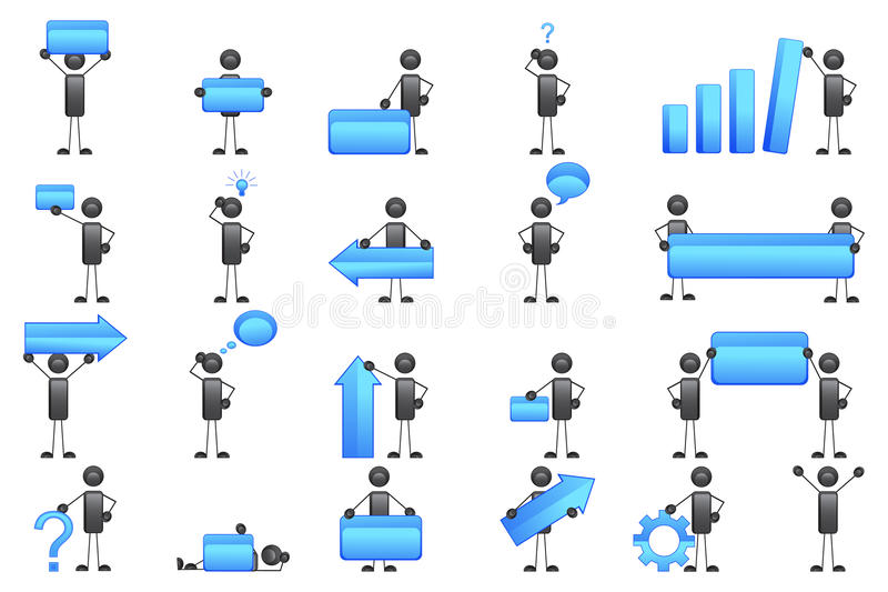 Download Icon of Business Man stock vector. Image of background - 24845518