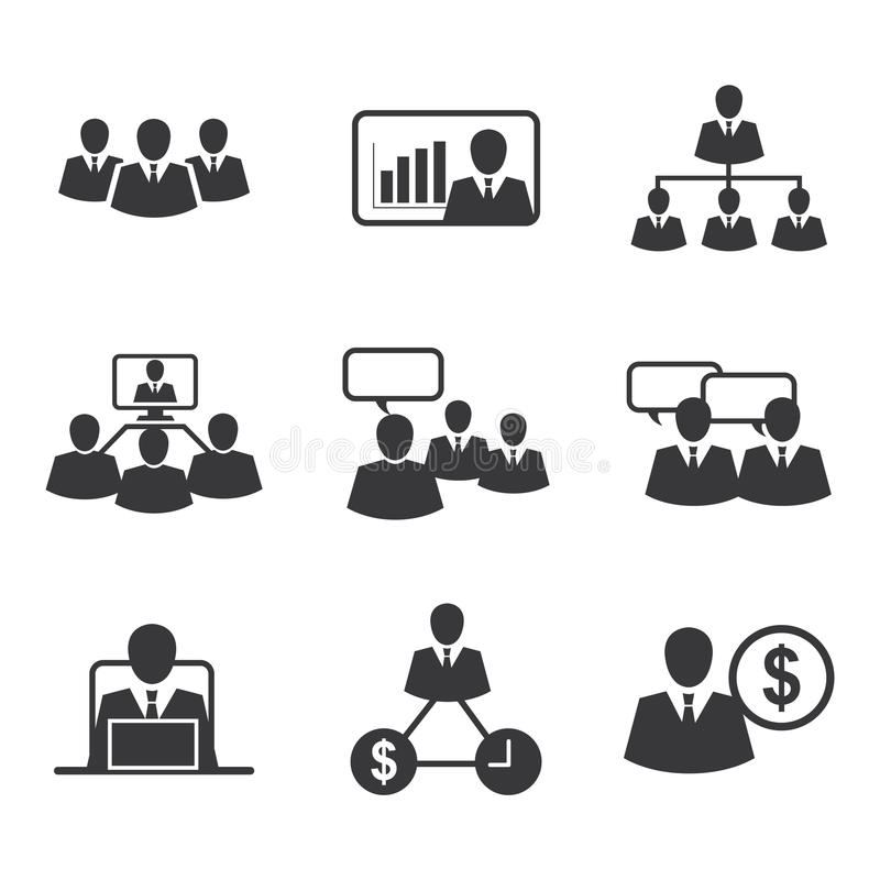 Icon business office stock illustration