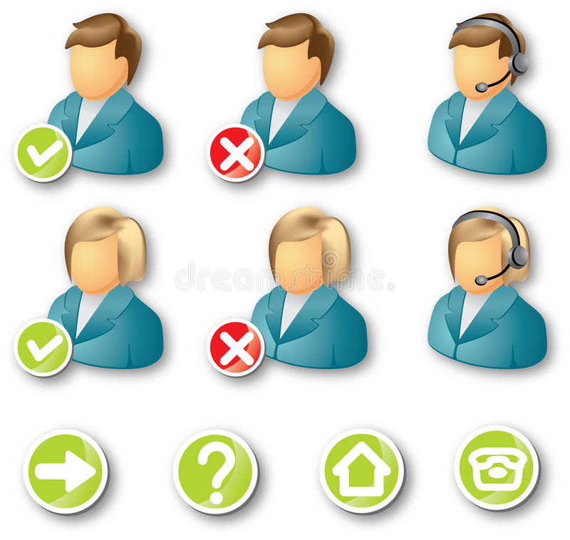Download Icon business people stock vector. Image of decoration - 20065597