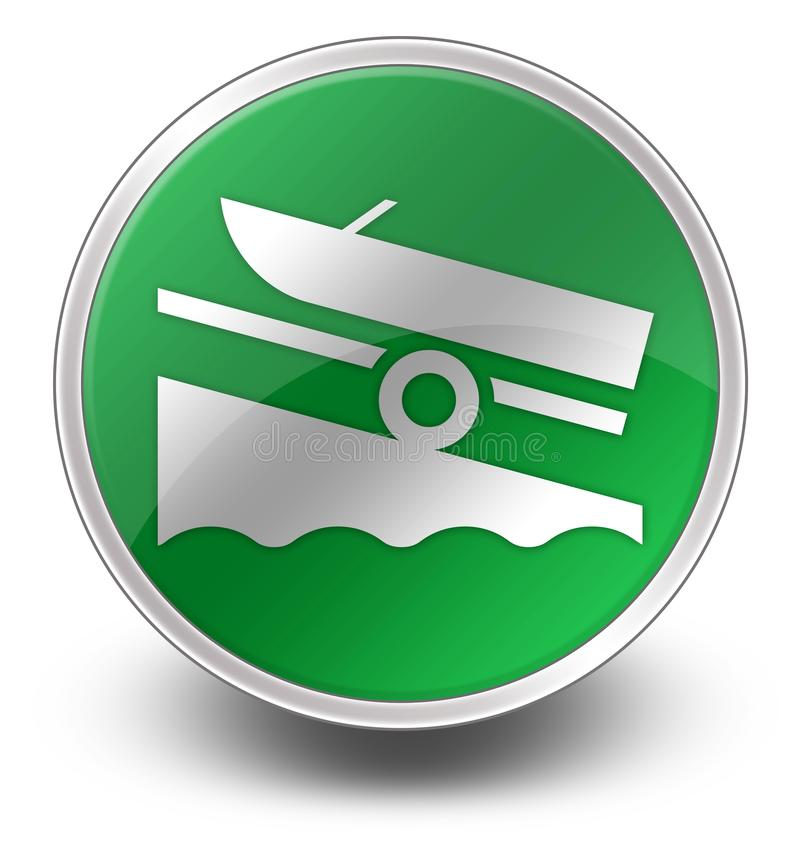 Icon, Button, Pictogram Boat Ramp. Icon, Button, Pictogram with Boat Ramp symbol royalty free illustration