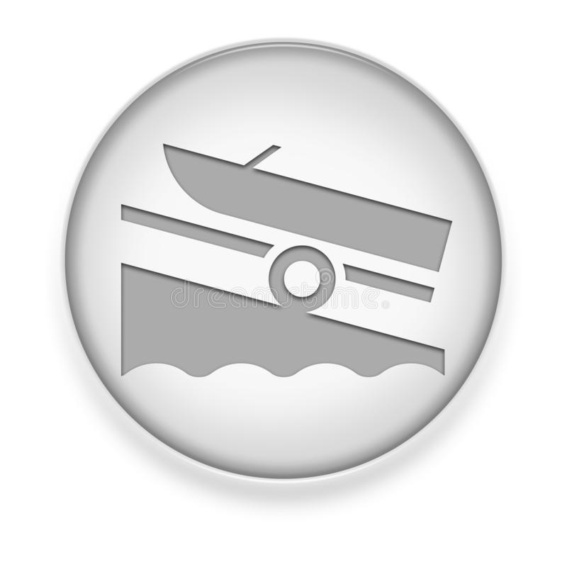 Icon, Button, Pictogram Boat Ramp. Icon, Button, Pictogram with Boat Ramp symbol vector illustration