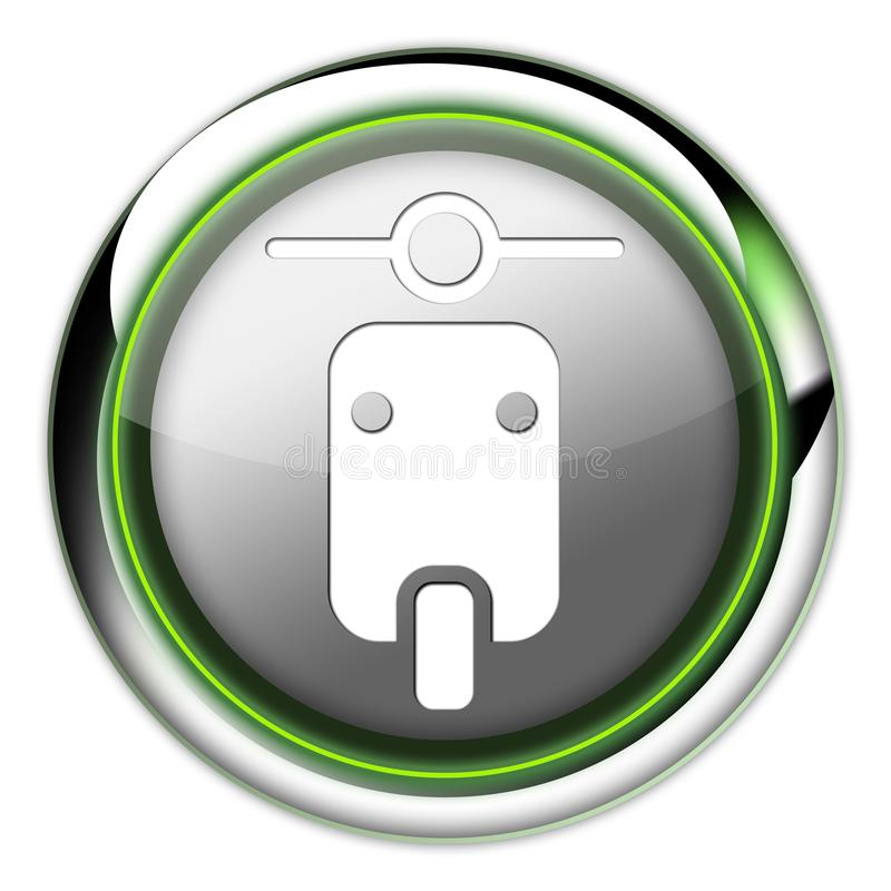 Icon, Button, Pictogram Scooter. Icon, Button, Pictogram with Scooter symbol stock illustration