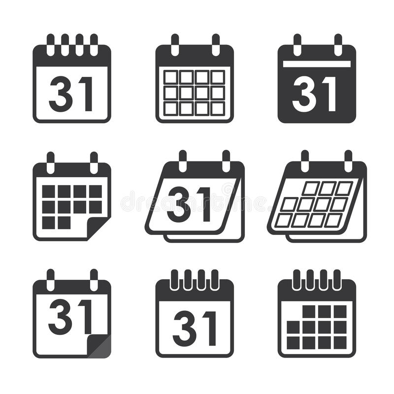 Icon calendar. Vector icon calendar for web and print