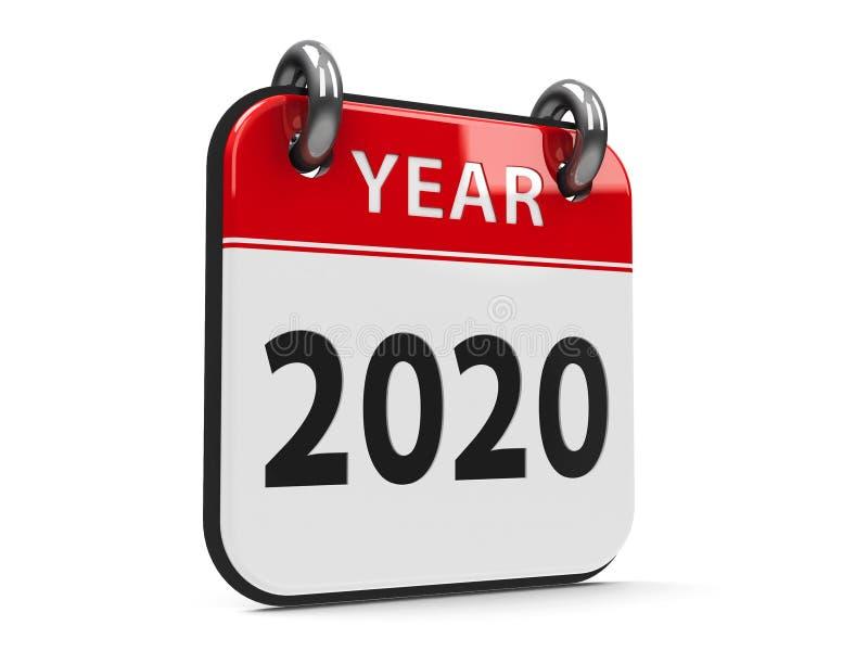 Icon calendar 2020 year #2 stock illustration