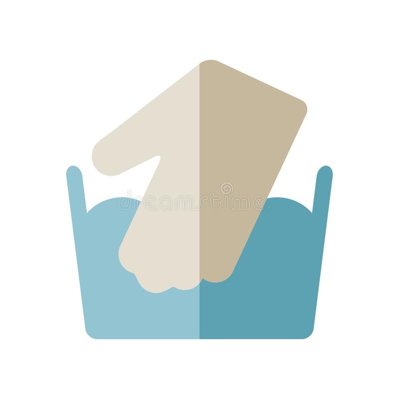 Icon for care of clothing for laundry. Vector royalty free illustration