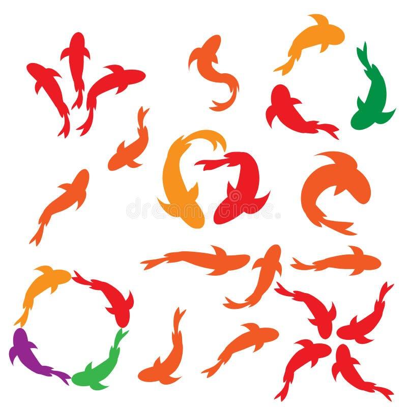Icon carp. logo vectore. logo icon stock photography