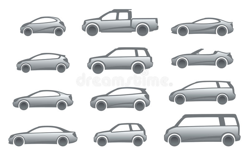 Icon cars. On a white background vector illustration
