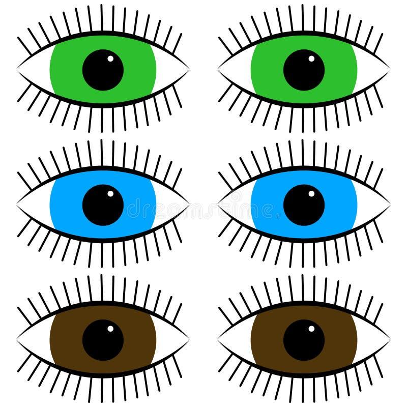 Fun icon cartoon eyes. Icon cartoon eyes stock illustration