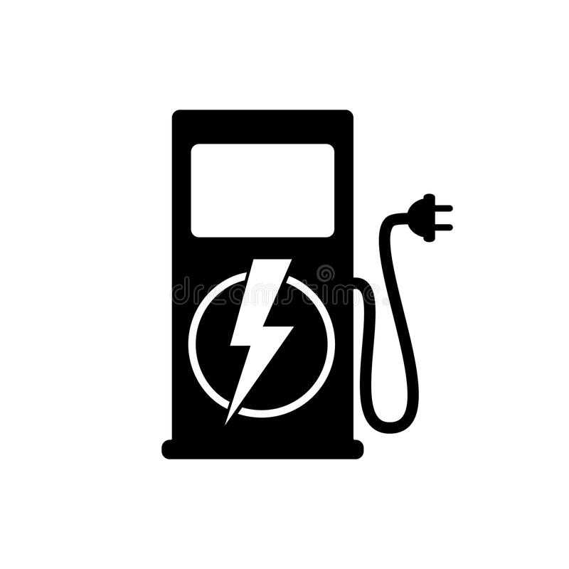 Icon charging stations of electric cars royalty free illustration