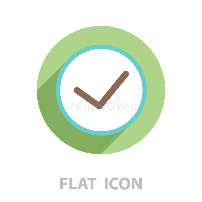 Icon of check box. vector stock illustration