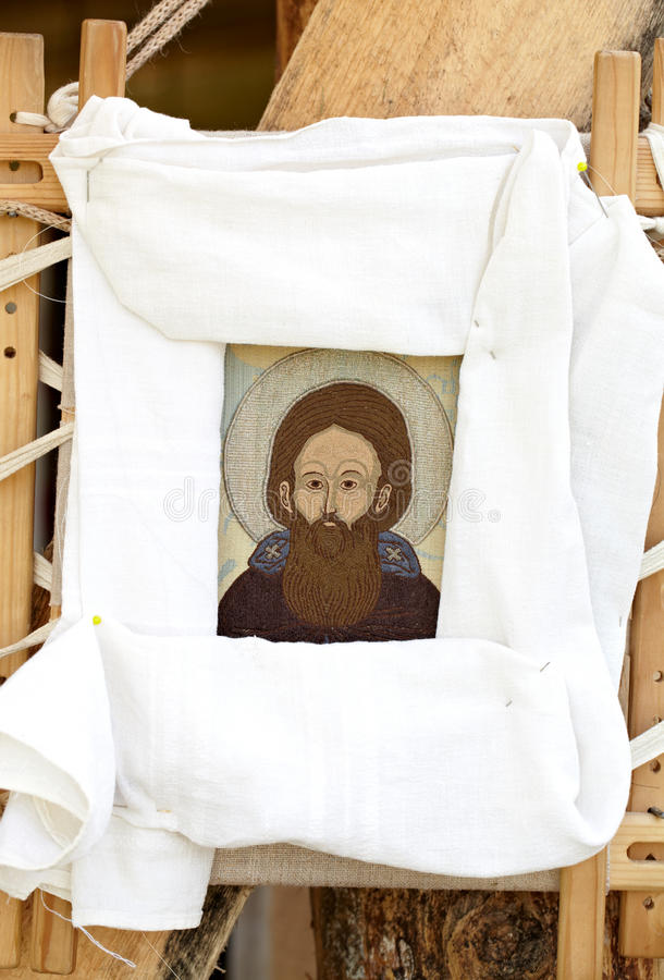 Download Icon of Christ stock photo. Image of iconography, embroidery - 25906428