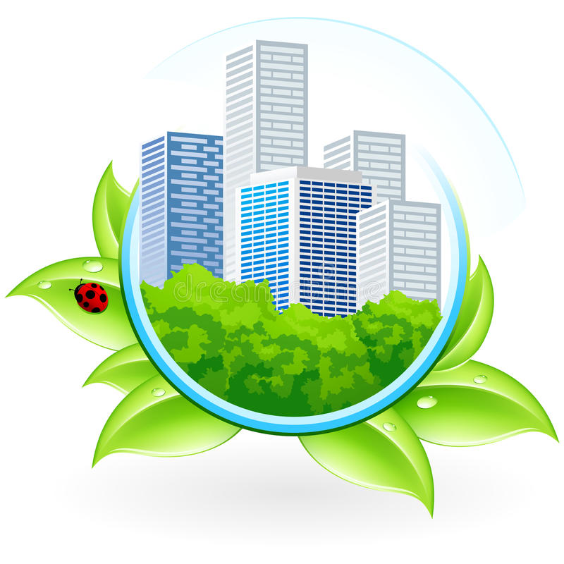 Download Icon with City stock vector. Image of drawing, leaf, cityscape - 14388306