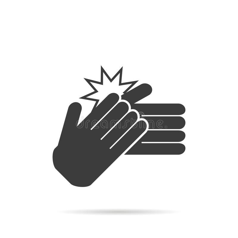 Icon clapping hands on a white background, vector stock illustration