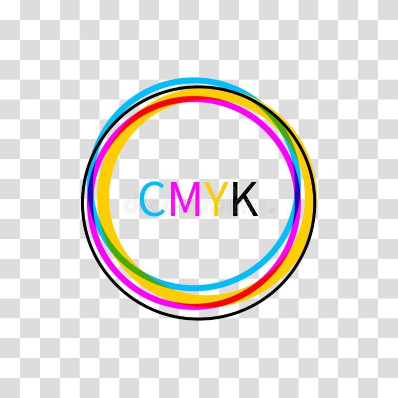 Icon CMYK on white background vector illustration