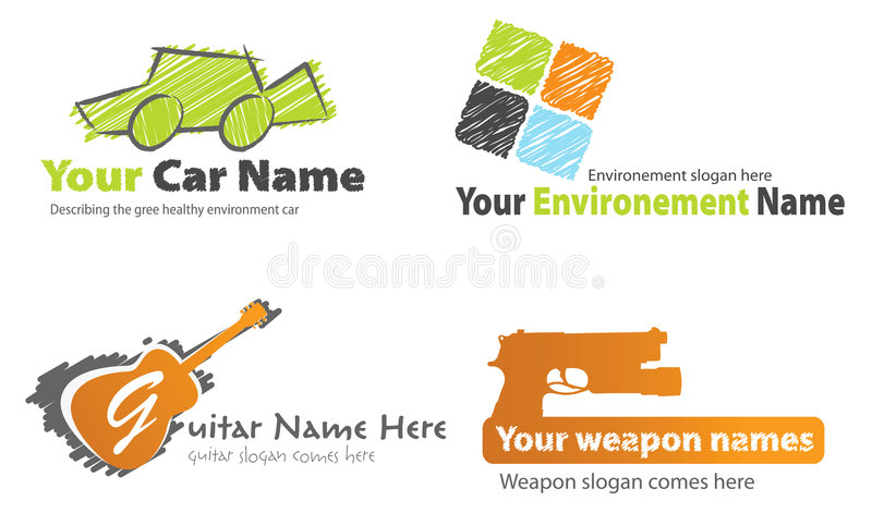 Download Icon collection stock vector. Image of name, scribble - 7905887