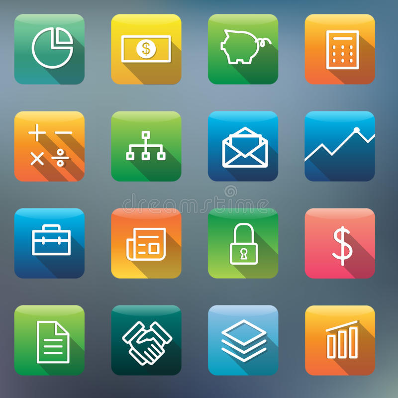 Icon Collection Vector Application Content Concept royalty free illustration