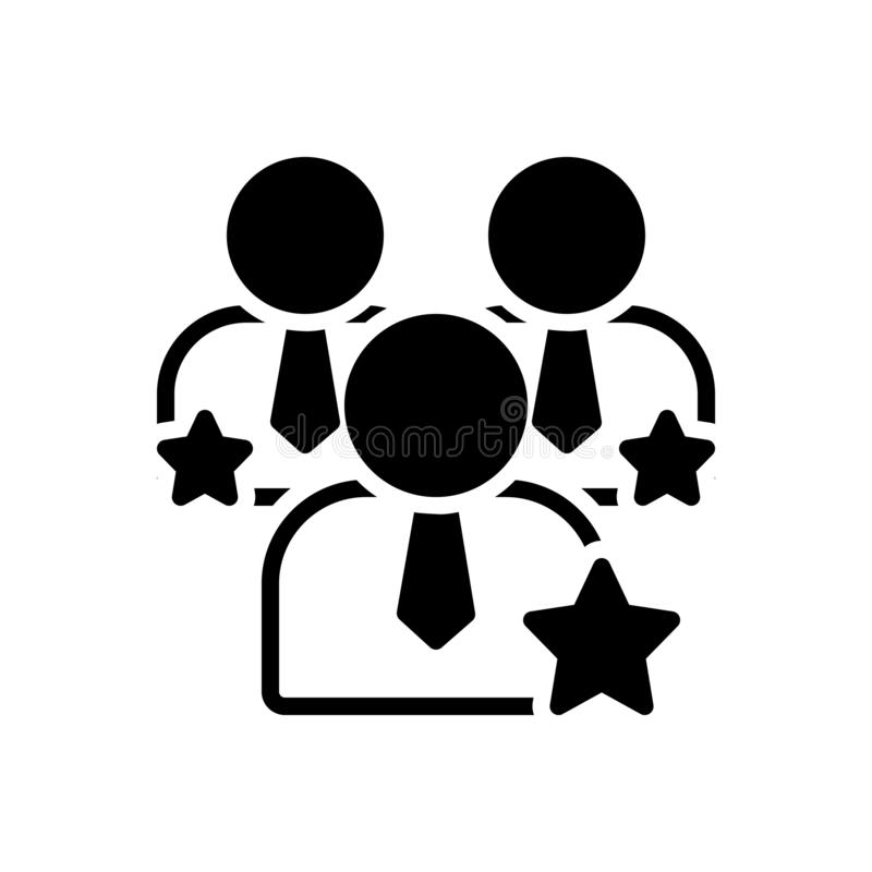 Black solid icon for Competence, capacity and ability. Black solid icon for Competence, competency, mightiness, miscellaneous,  capacity and ability vector illustration