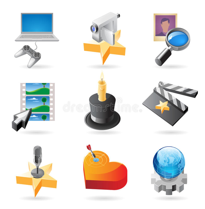 Icon concepts for media vector illustration