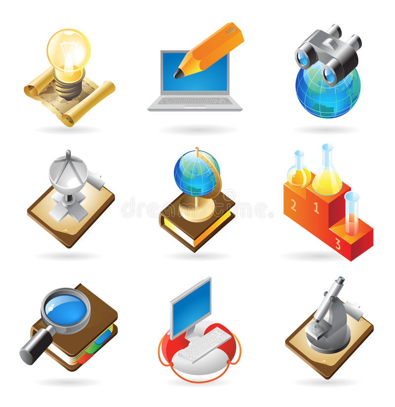 Download Icon concepts for science stock vector. Image of glass - 14130544