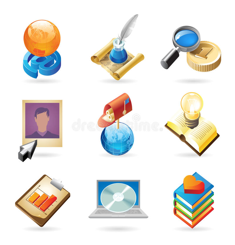 Icon concepts for web vector illustration