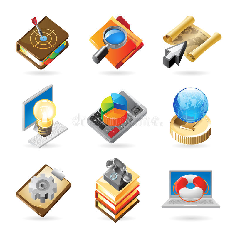 Download Icon concepts for work stock vector. Illustration of employment - 16912702
