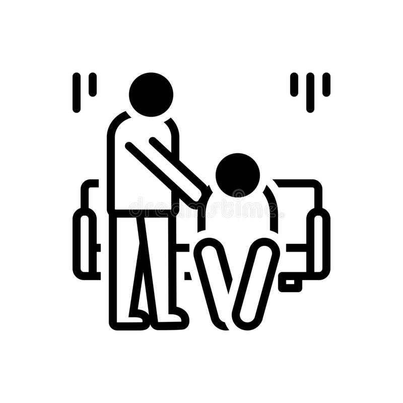 Black solid icon for Condolences, sympathy and empathy vector illustration