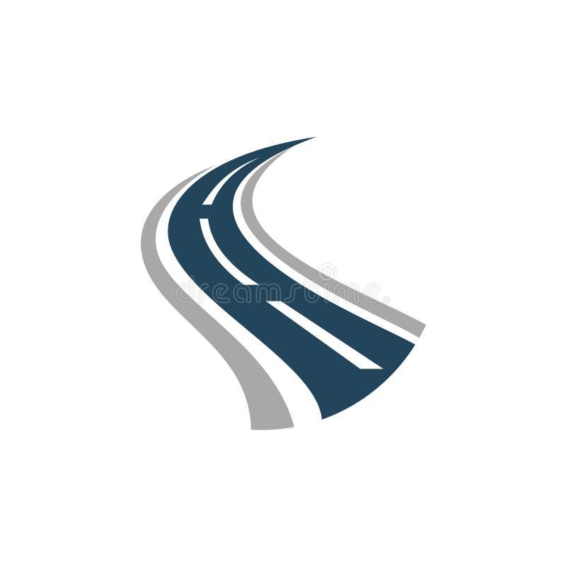 Creative road bend logo royalty free illustration