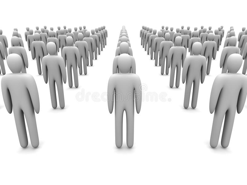 Icon Crowd Royalty Free Stock Photography