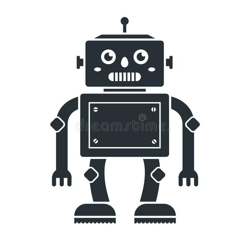 Icon of cute robot toys on a white background. royalty free illustration