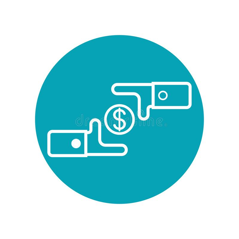Icon design in concept of money exchage. Vector illustration isolated on white background vector illustration