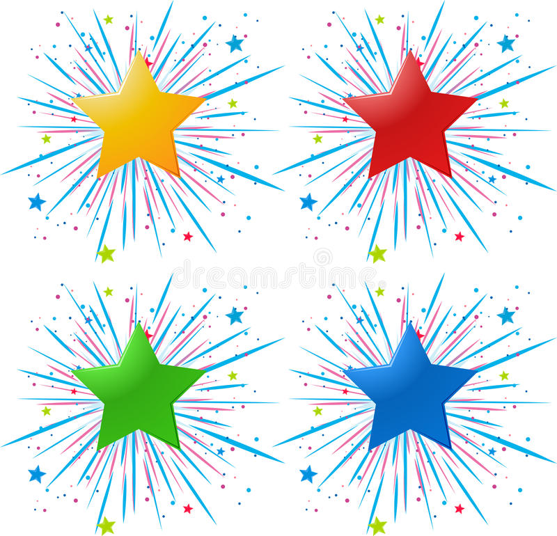 Icon design with different color stars royalty free illustration