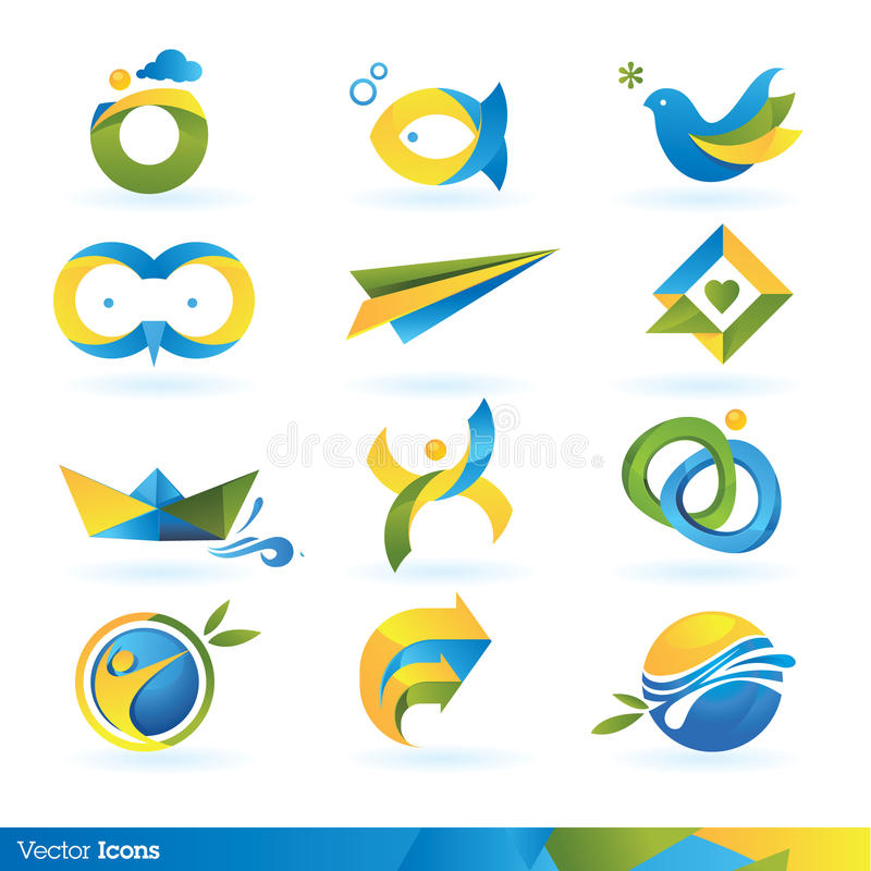 Download Icon design elements stock vector. Image of abstract - 21128609