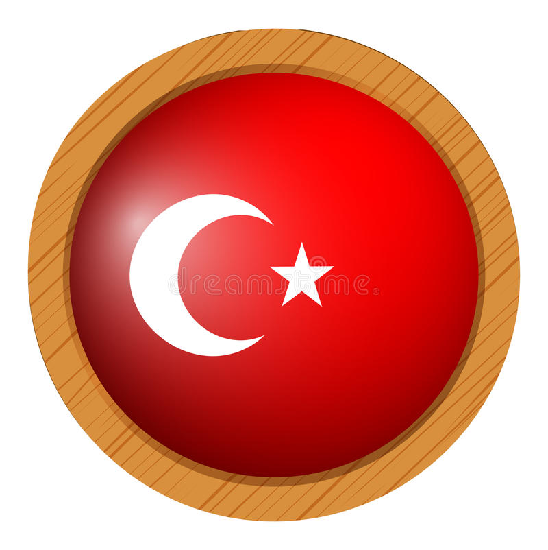 Download icon design for flag of turkey stock vector illustration of sticker path