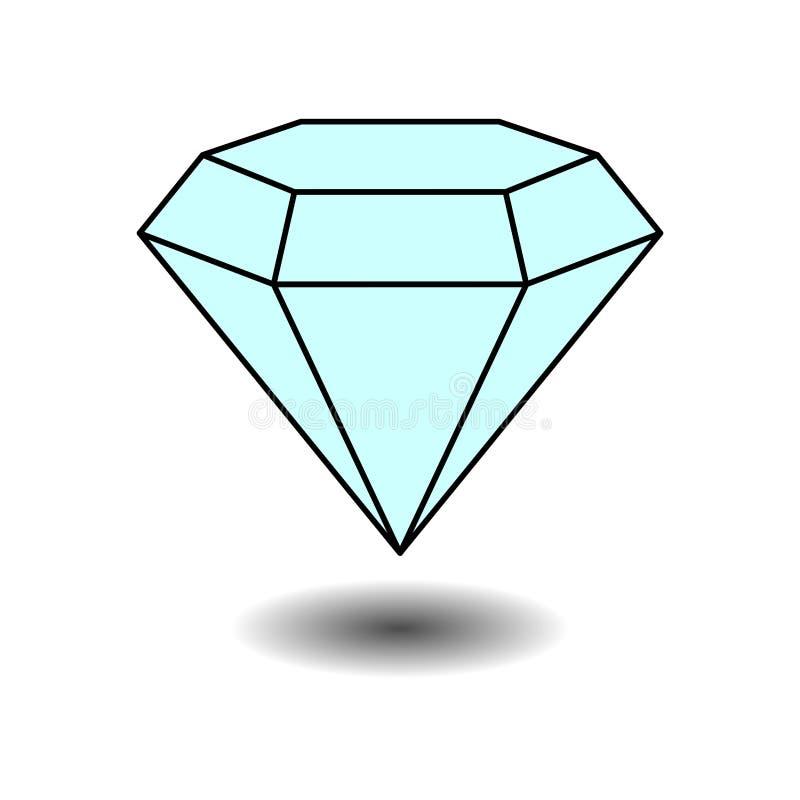 Icon diamond jewelery, jewelery, label. Sticker fully editable image vector illustration
