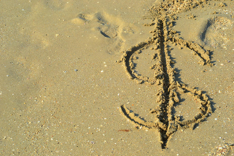 Icon dollar washable seawater royalty free stock images