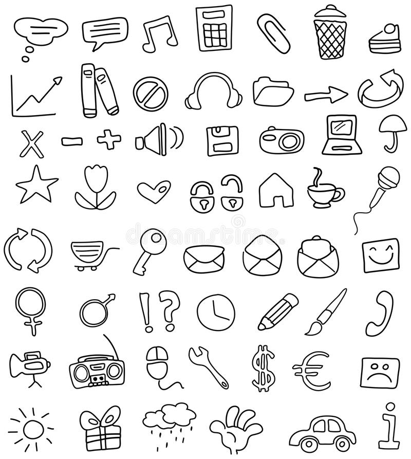 Icon doodles vector illustration