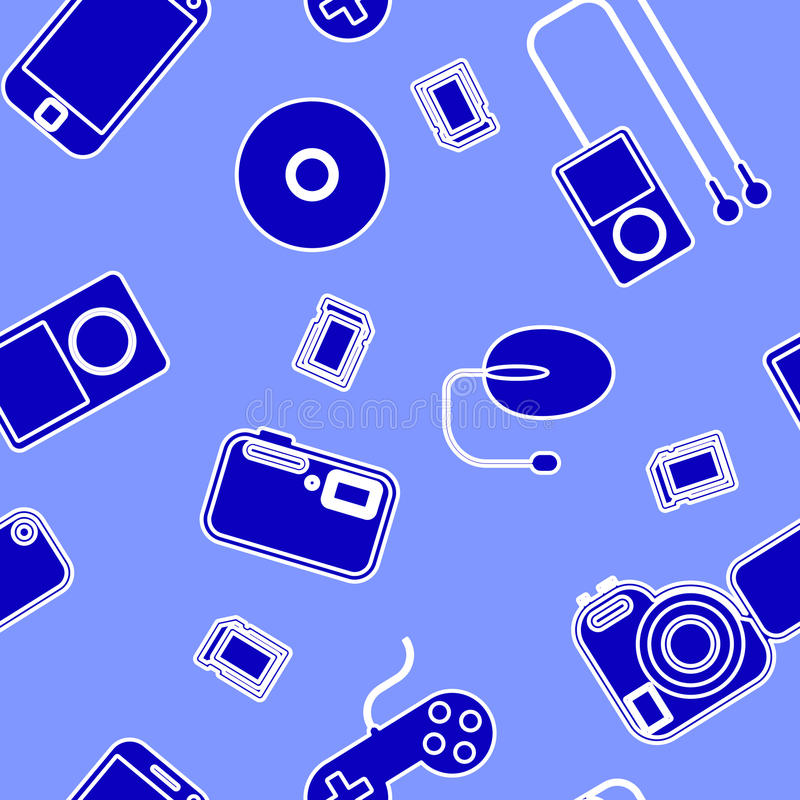 Download Icon  With  Electronic Gadgets. Stock Vector - Image: 25257358