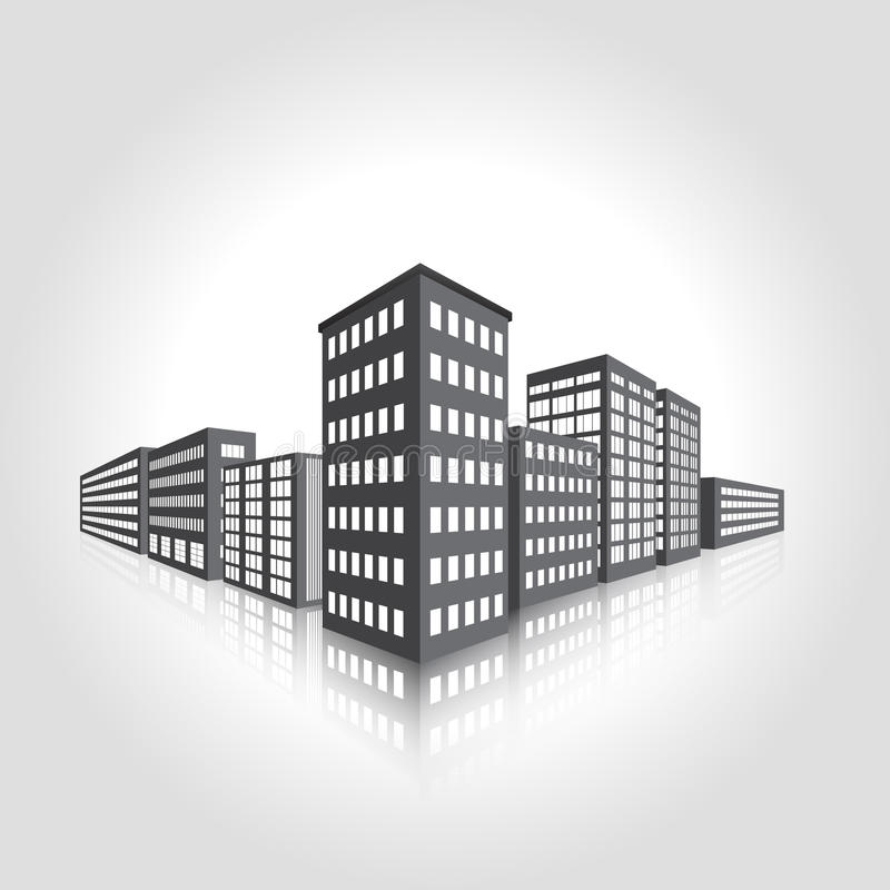 Download Icon Factory And Office Building Stock Vector - Image: 33033153