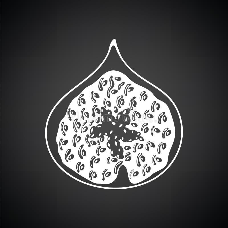 Icon of Fig fruit royalty free illustration