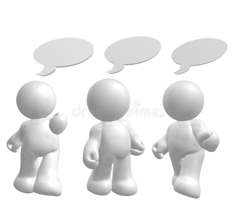 Download Icon Figures Enjoy Chatting With Comic Balloons Stock Images - Image: 8432774