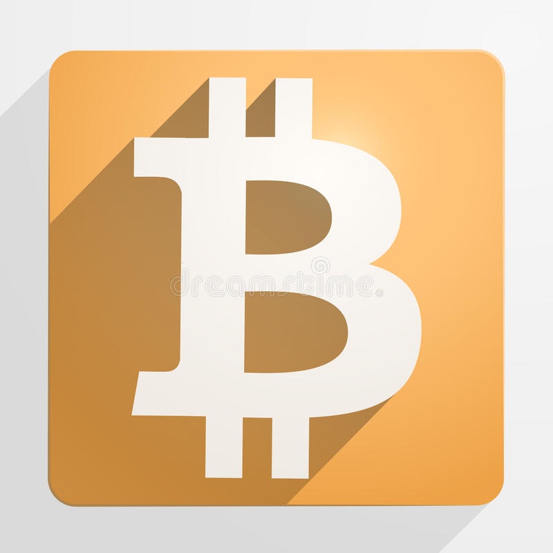 Icon Of Financial Currency Bitcoin Stock Photo