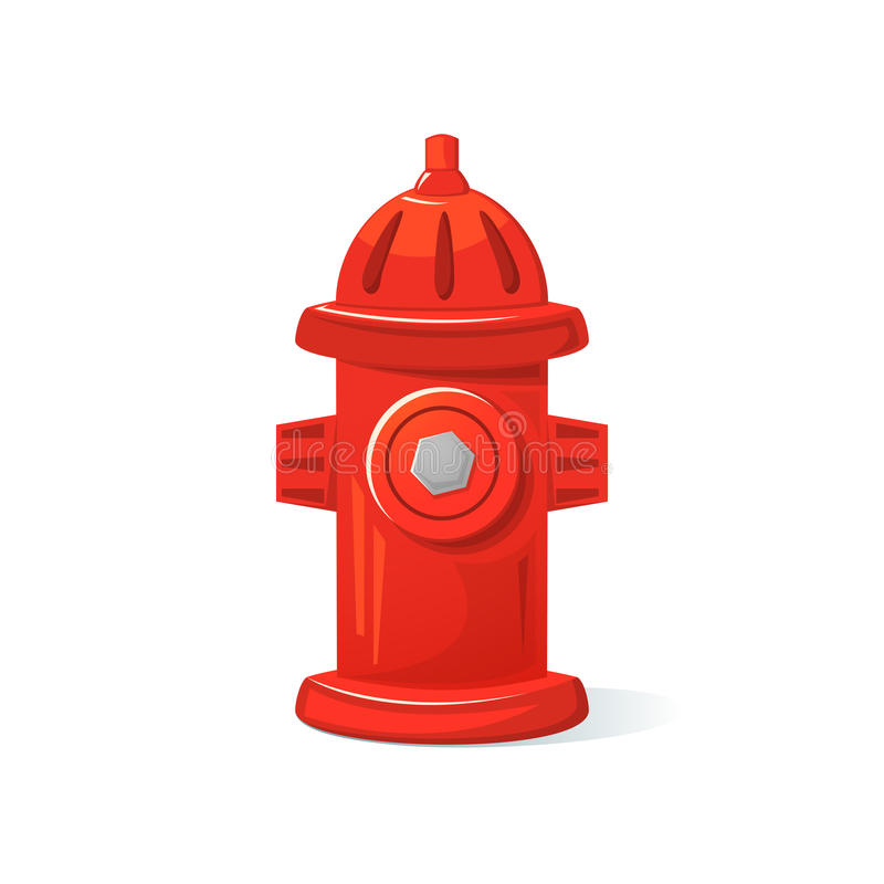 Icon fire hydrant, vector illustration. Icon red fire hydrant, isolated vector illustration vector illustration