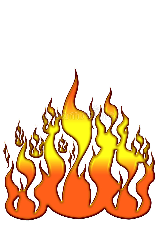 Icon Flames royalty free stock images
